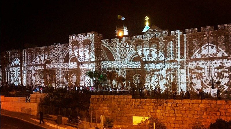 Mapping Jerusalem Light Festival